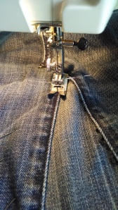 sewing along seams